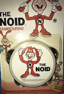 New 1989 DOMINO'S PIZZA ~ AVOID THE NOID- TAMBOURINE NEW IN PACKAGE.
