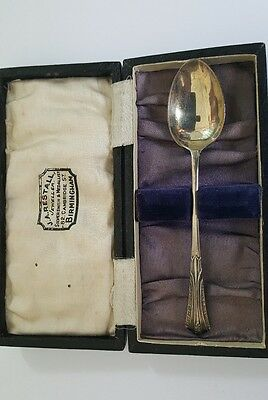Antique English Solid Silver Spoon