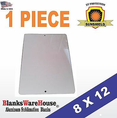 "1 Piece PARKING SIGN  ALUMINUM  SUBLIMATION BLANKS 8"" x 12"" / WITH HOLES"