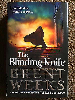 SIGNED & DATED Blinding Knife by Brent Weeks (1st 1st Hardcover)