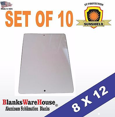 """10 Pieces PARKING SIGN  ALUMINUM  SUBLIMATION BLANKS 8"""" x 12"""" / WITH HOLES"""