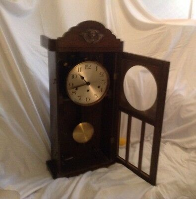 oak westminster chime wall clock