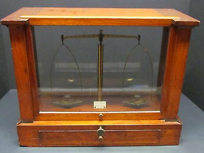 Antique Large Precision Apothecary Gold Scale w/ Weights Becker & Sons NY