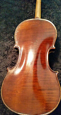 Old French Violin After Collin Mezin One Piece Back
