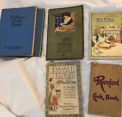 Lot Of Vintage ADVERTISING ANTIQUE Cookbooks Pamphlets WATKINS, Baking Powders +