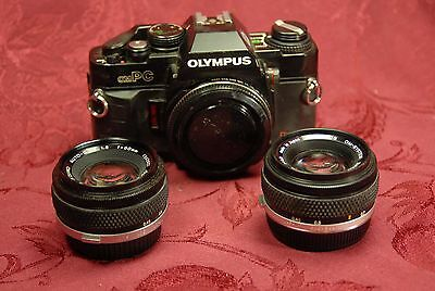 Camera Olympus Ompc With Two F.zuiko Lens