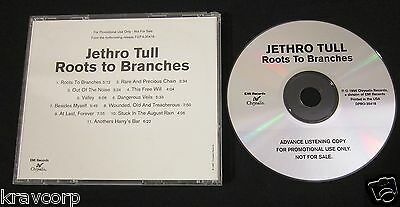 Jethro Tull 'Roots To Branches' 1995 Advance Cd
