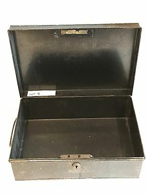 Vintage Industrial Style Metal Strong Box Deeds Storage Photos etc. Lot 8