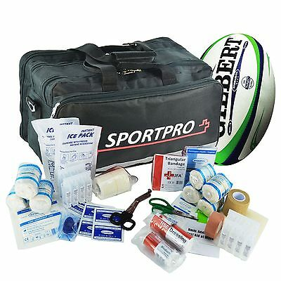 Rugby Sports First Aid Kit in Black Sportpro Bag