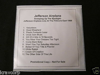 Jefferson Airplane 'Sweeping Up The Spotlight' 2007 Limited Edition Cd