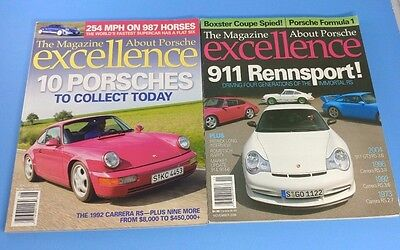 Excellence - The Magazine About Porsche -  Lot of Issues #133 & 166