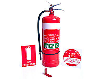 5 x Fire Extinguisher - 4.5kg ABE and Signs - Brand New