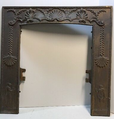 """ANTIQUE CAST IRON FIREPLACE  SURROUND FROM SET of """"SLEEPY HOLLOW"""""""