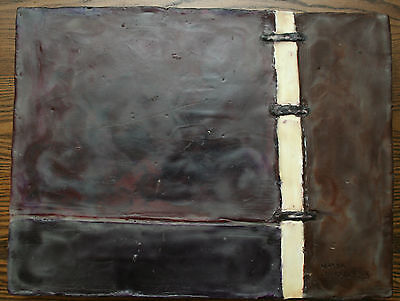 """Abstract painting, 12x16"""", signed Maya Chykalovets, , oil & wax on a board"""