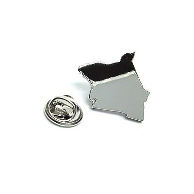 Outline Map of Argentina Rhodium Plated Lapel Tie Pin X2AJTP679