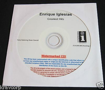 Enrique Iglesias 'Greatest Hits' 2008 Advance Cd--Sealed