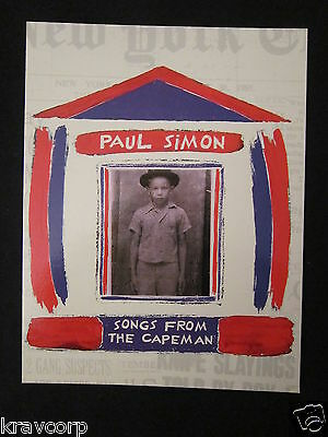 Paul Simon 'songs From The Capeman' 1997 Promotional Postcard