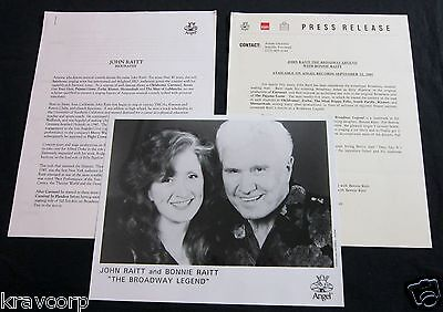 John Raitt & Bonnie Raitt 'The Broadway Legend' 1995 Press Kit--Photo