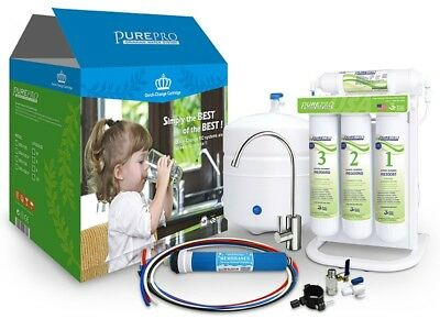 Pure Pro  6 Stage With Alkaline Undersink Drinking Water Filter System EZ-105