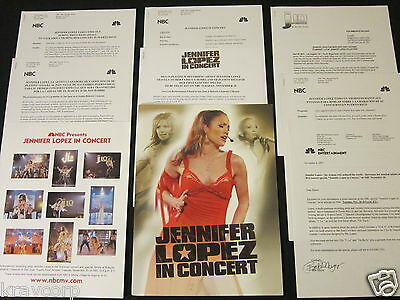 Jennifer Lopez 'In Concert: Tv Special' 2001 Press Kit