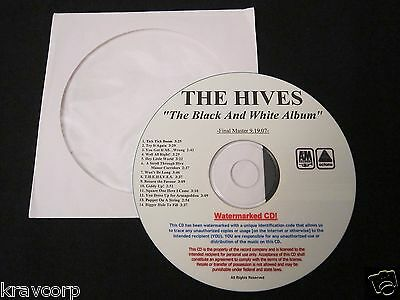 The Hives 'The Black & White Album' 2007 Advance Cd