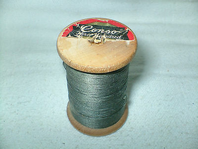 Vintage Conso Three Hundred Wood Thread Spool Wooden Spool