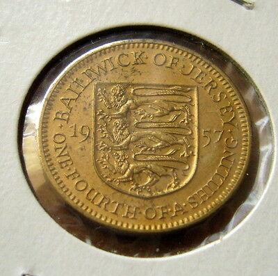 1957 Jersey Three Pence Coin