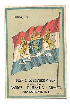 """VTC for Domestic Cigars  Dealer Guenther in Jamestown NY Size Card 4 1/2"""" x 3"""""""