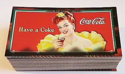 COCA-COLA Sign Of Good taste Trading Card Set Complete w/ Polar Bear Sub set