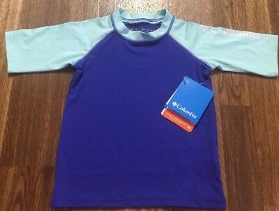 NWT🌞Toddler/Boys Columbia Omni Shade UPF 50 Swim Rash Guard Top Size 3T