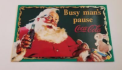 COCA-COLA Sign Of Good taste Over sized Trading Card OS-1 Santa