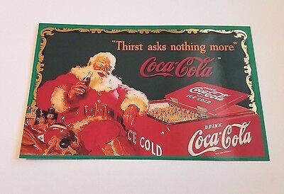 COCA-COLA Sign Of Good taste Over sized Trading Card OS-3 Santa