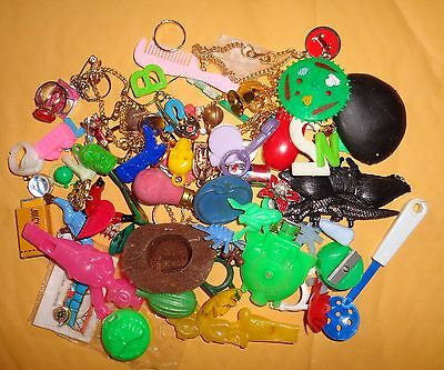 Assorted Lot of Plastic Cracker Jack, Gumball Machine Toys, Charms and Prizes.
