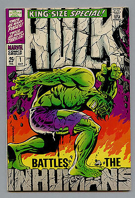 INCREDIBLE HULK KING SIZE ANNUAL #1 VFINE 8.0 STERANKO COVER Inhumans (1968 CGC?