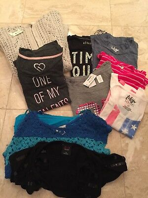 LOT 10 Small New Pre-Owned Tops SweaterTokyo Darling Aeropostale Live Love Dream