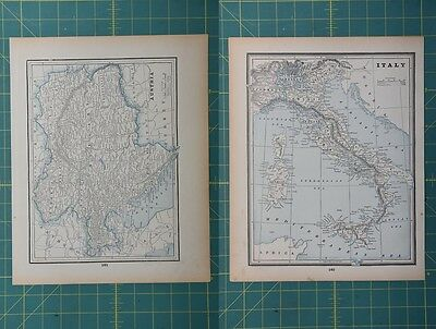 Austria Italy Vintage Original 1893 Columbian World Fair Atlas Map Lot