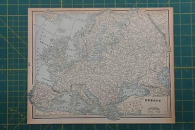 Europe Vintage Original 1893 Columbian World Fair Atlas Map Lot