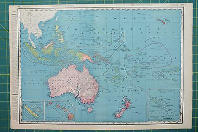 Oceania Vintage Original 1895 Rand McNally World Atlas Map Lot