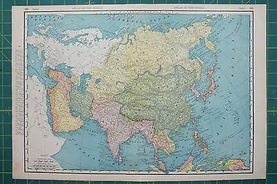 Asia Vintage Original 1895 Rand McNally World Atlas Map Lot