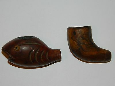 Vintage Lot of 2 wooden Tobacco Pipes Assorted-Smoking