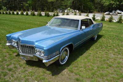 1970 Cadillac DeVille  1970 Blue Metallic Convertible Leather Low Miles Matching Numbers