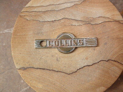Vintage Collins Radio Company Metal Key Fob/name Plate, Early Emblem