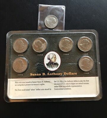 Lot Of 7 Susan B Anthony Dollars Littleton Coin Company