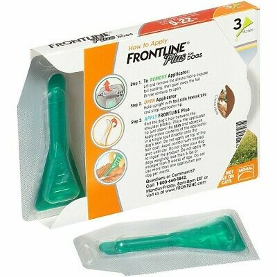 Frontline Plus Flea for Dogs 5-22 lbs 3 month supply