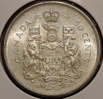 Canada Half Dollar - 1964 - Elizabeth II - $1 Unlimited Shipping