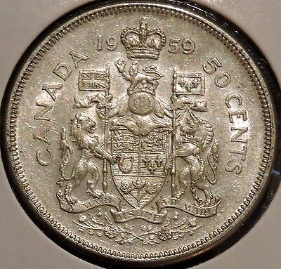 Canada Half Dollar - 1959 - Elizabeth II - $1 Unlimited Shipping