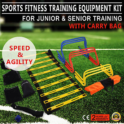 Multi Sports Fitness Training Equipment Kit Ultimate Stamina Agility 2 Ladders
