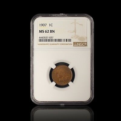1907 1C Indian Cent NGC MS 62 BN