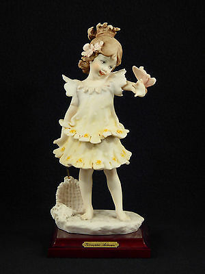 """G. Armani """"GIRL WITH A BUTTERFLY"""" Figurine - Florence 1986"""