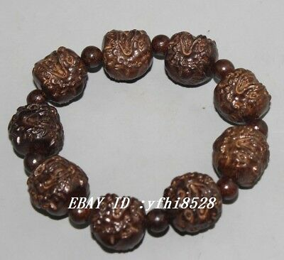 Chinese Sandalwood carved scalable wood bracelet